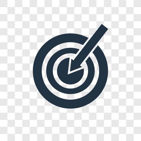 Icône vecteur cible isolé sur fond transparent, concept logo cible transparence Logo