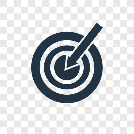 Target vector icon isolated on transparent background, Target transparency logo concept