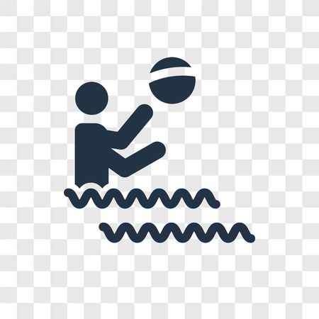 Water Sports vector icon isolated on transparent background, Water Sports transparency logo concept