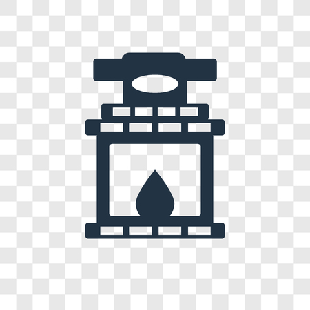 Fireplace vector icon isolated on transparent background, Fireplace transparency logo concept Stock Illustratie