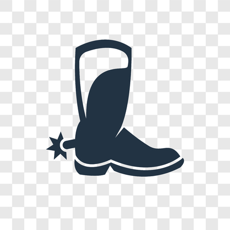 Boot vector icon isolated on transparent background, Boot transparency logo concept Vectores