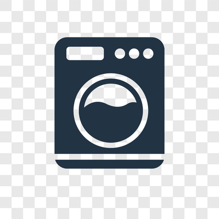 Washing Machine with Dots vector icon isolated on transparent background, Washing Machine with Dots transparency logo concept