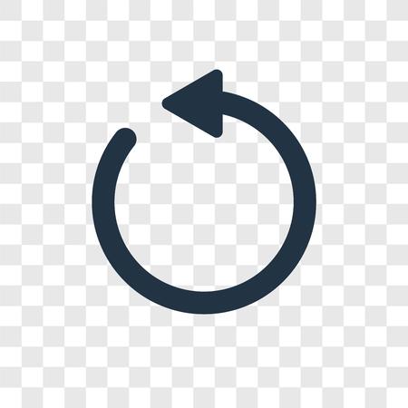 Icono de vector de flechas circulares en sentido antihorario aislado sobre fondo transparente, concepto de logo de transparencia de flechas circulares en sentido antihorario