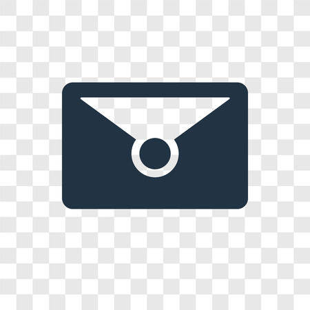 Mail vector icon isolated on transparent background, Mail transparency logo concept