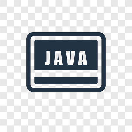 Java vector icon isolated on transparent background, Java transparency logo concept