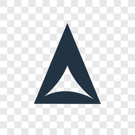 Hamantaschen vector icon isolated on transparent background, Hamantaschen transparency logo concept Illustration