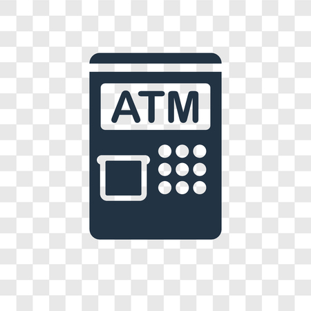 Atm vector icon isolated on transparent background, Atm transparency logo concept Stock fotó - 112445128