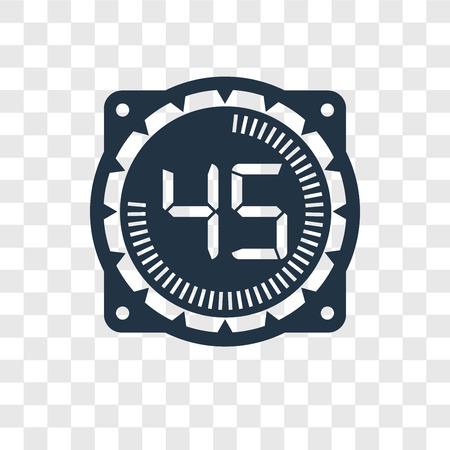 Time vector icon isolated on transparent background, Time transparency logo concept Stock Illustratie