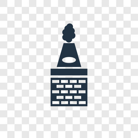 Chimney vector icon isolated on transparent background, Chimney transparency logo concept