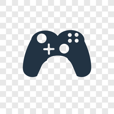 Gamepad vector icon isolated on transparent background, Gamepad transparency logo concept
