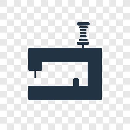 Icône de vecteur de machine à coudre isolé sur fond transparent, concept de logo de transparence machine à coudre Logo