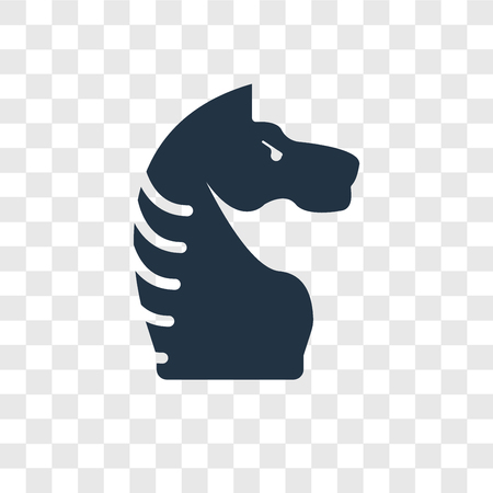 Chessplayer vector icon isolated on transparent background, Chessplayer transparency logo concept
