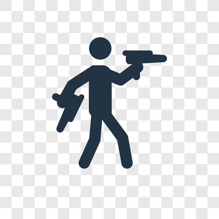 Target Shooter vector icon isolated on transparent background, Target Shooter transparency logo concept