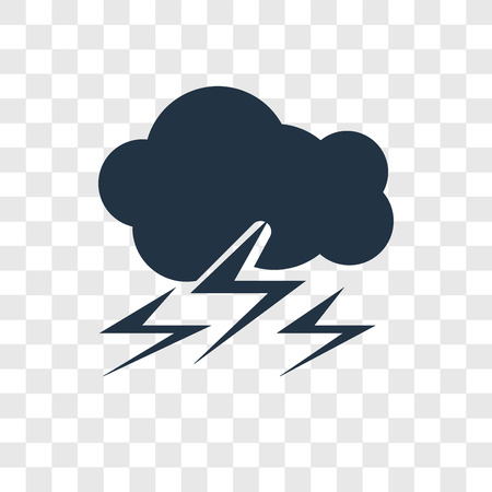 Storm vector icon isolated on transparent background, Storm transparency logo concept