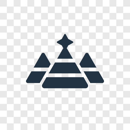 Pyramid vector icon isolated on transparent background, Pyramid transparency logo concept