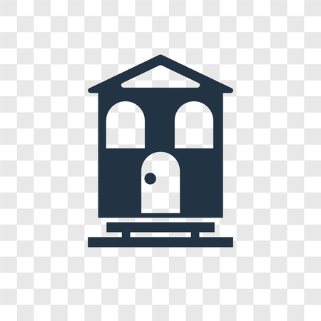 Chalet vector icon isolated on transparent background, Chalet transparency logo concept Иллюстрация