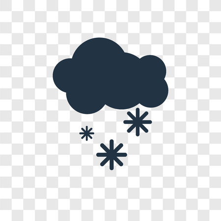 Snowy vector icon isolated on transparent background, Snowy transparency logo concept