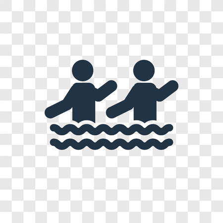 Aqua Gym vector icon isolated on transparent background, Aqua Gym transparency logo concept