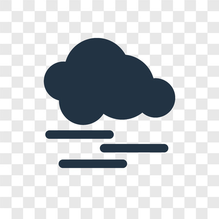 Mist vector icon isolated on transparent background, Mist transparency logo concept Ilustração