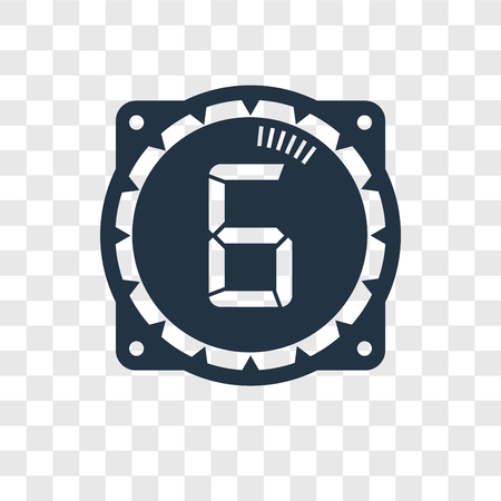 Time vector icon isolated on transparent background, Time transparency logo concept Illustration
