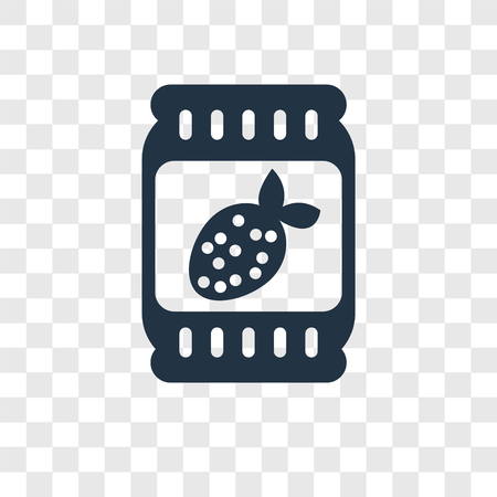Jam vector icon isolated on transparent background, Jam transparency logo concept Illustration