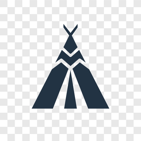 Tipi vector icon isolated on transparent background, Tipi transparency logo concept Vectores