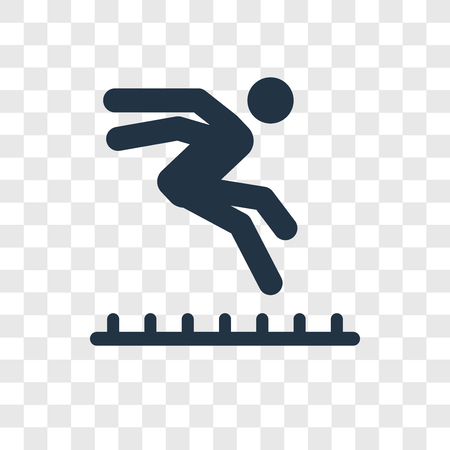 Long Jump vector icon isolated on transparent background, Long Jump transparency logo concept Foto de archivo - 112442027