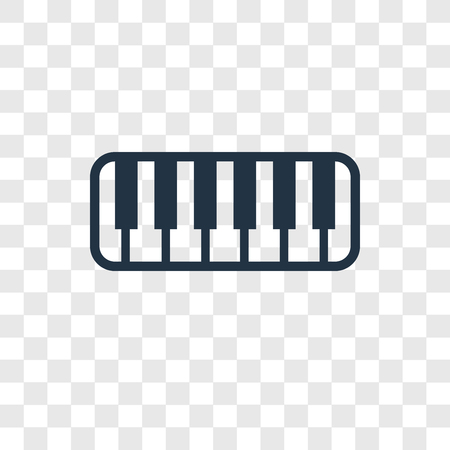 Keyboard toy vector icon isolated on transparent background, Keyboard toy transparency logo concept