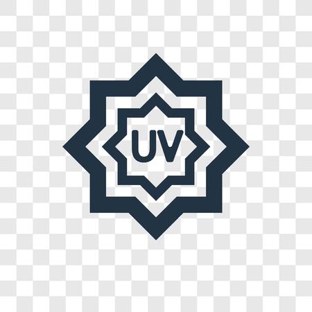 UV Ray Warning vector icon isolated on transparent background, UV Ray Warning transparency logo concept