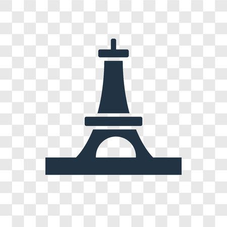 Eiffel tower vector icon isolated on transparent background, Eiffel tower transparency logo concept