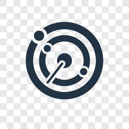 Radar detection vector icon isolated on transparent background, Radar detection transparency logo concept Logo