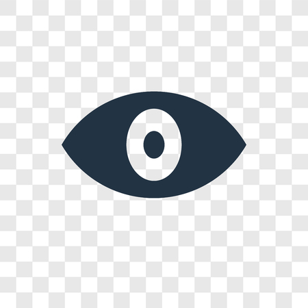 Eye vector icon isolated on transparent background, Eye transparency logo concept Stock Vector - 111711212