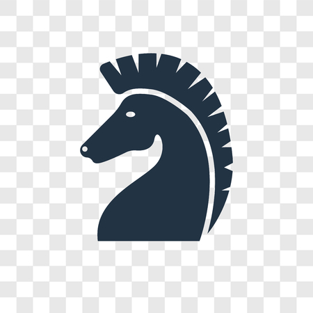 Horse vector icon isolated on transparent background, Horse transparency logo concept