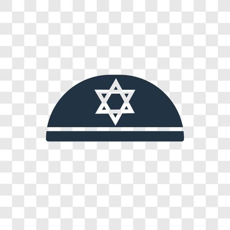 Kippah vector icon isolated on transparent background, Kippah transparency logo concept