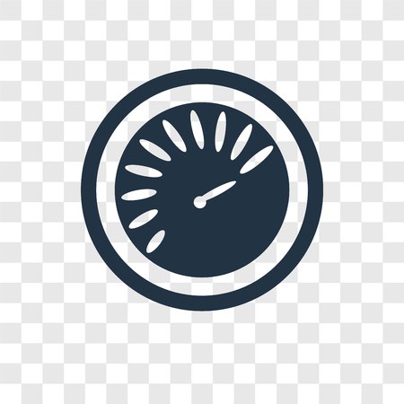 Speedometer vector icon isolated on transparent background, Speedometer transparency logo concept