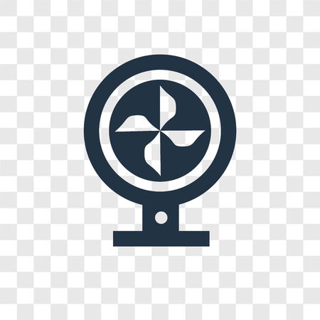 Fan vector icon isolated on transparent background, Fan transparency logo concept