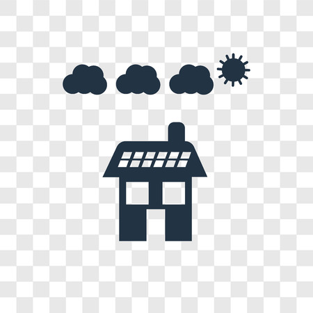 Solar panel vector icon isolated on transparent background, Solar panel transparency logo concept
