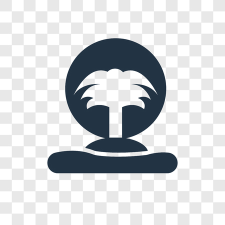 Island vector icon isolated on transparent background, Island transparency logo concept
