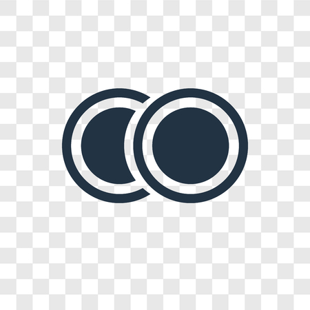 Two Circles vector icon isolated on transparent background, Two Circles transparency logo concept