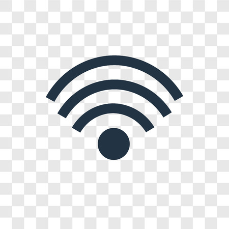 Wifi vector icon isolated on transparent background, Wifi transparency logo concept