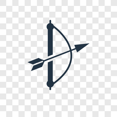 Archery vector icon isolated on transparent background, Archery transparency logo concept Иллюстрация