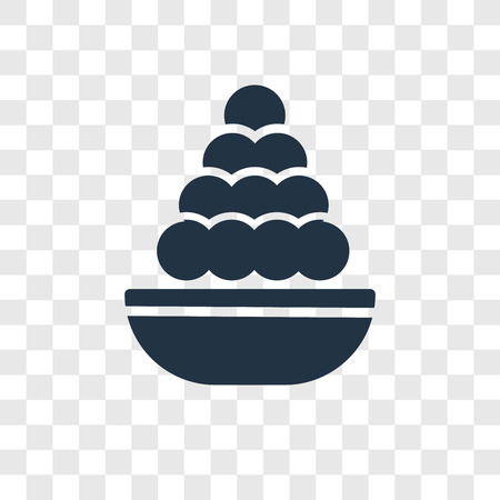 Laddu vector icon isolated on transparent background, Laddu transparency logo concept