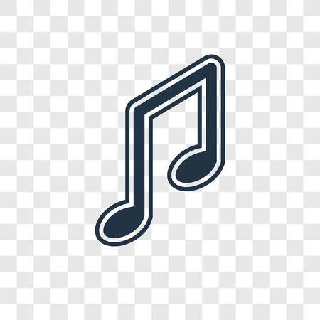 Icône de vecteur de Big Music Note isolé sur fond transparent, Big Music Note transparence concept logo