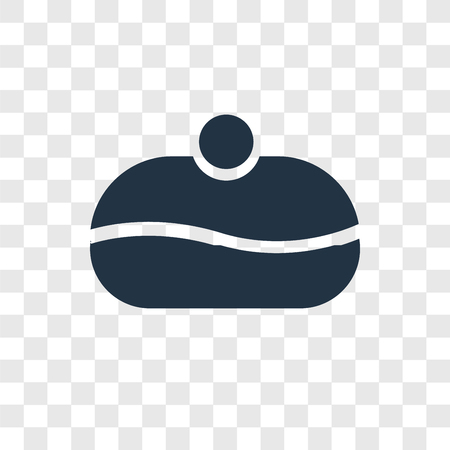 Sufganiyah vector icon isolated on transparent background, Sufganiyah transparency logo concept