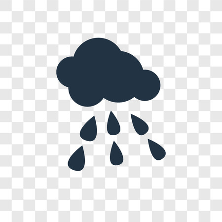 Rainy vector icon isolated on transparent background, Rainy transparency logo concept Logo