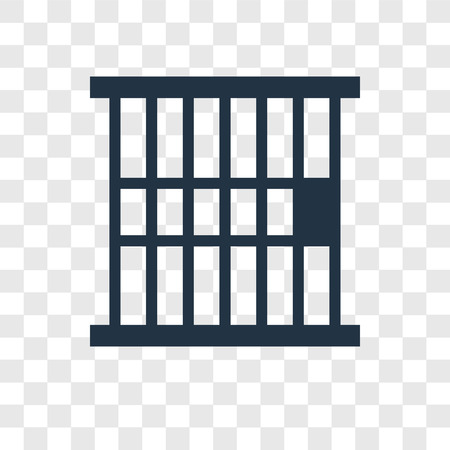 Jail vector icon isolated on transparent background, Jail transparency logo concept Illustration