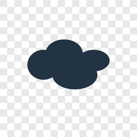 Cloud vector icon isolated on transparent background, Cloud transparency logo concept