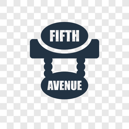 Fifth avenue vector icon isolated on transparent background, Fifth avenue transparency logo concept