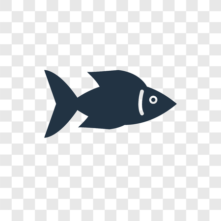 Fish Facing Right vector icon isolated on transparent background, Fish Facing Right transparency logo concept