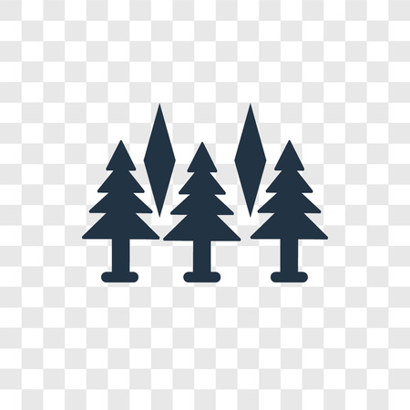 Forest vector icon isolated on transparent background, Forest transparency logo concept
